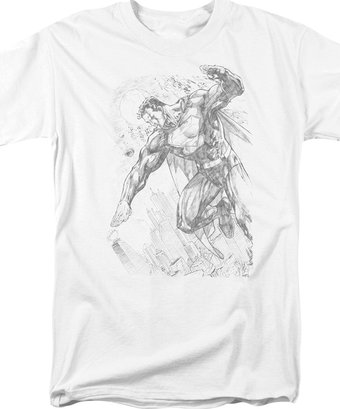 Superman - Pencil City to Space - T-Shirt