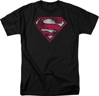 Superman - War Torn Shield - T-Shirt