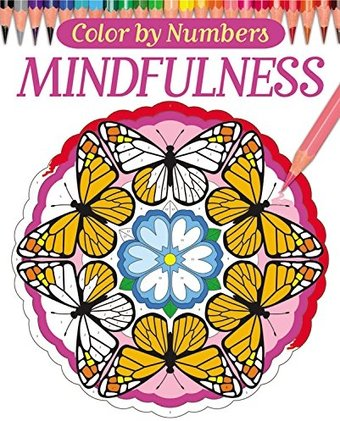 Mindfulness color by numbers adult coloring book for Garden 50 designs to help you de stress colouring for mindfulness