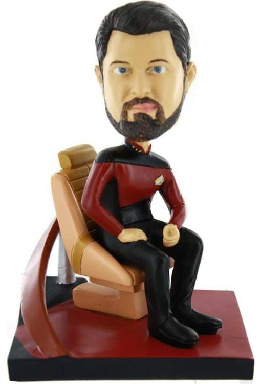 The Next Generation: Riker Deluxe Bobble Head