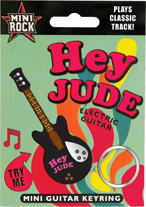 Hey Jude: Singing Mini Guitar Keyring