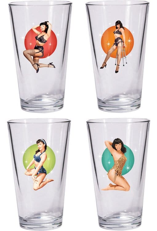 Bettie Page - Pint Glasses Set