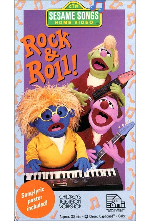 Sesame songs rock roll vhs 1990 directed by ted may for House music 1990 hits