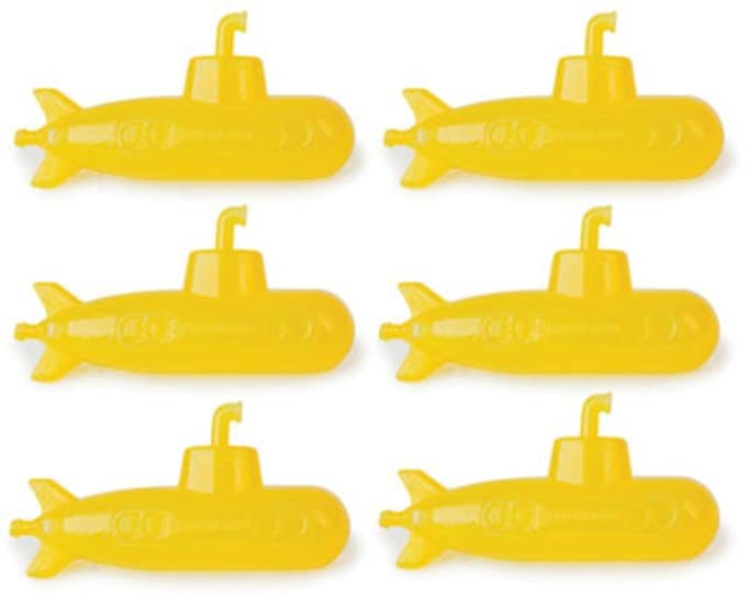 Yellow Submarine: 6-Piece Reusable Ice Cubes