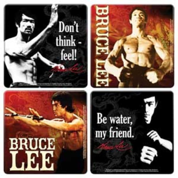 Bruce Lee - 4 Piece Wood Coaster Set