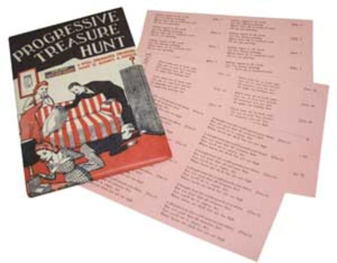 Progressive Treasure Hunt Vintage Game
