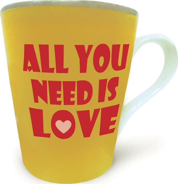 All You Need Is Love: Lyric 12 oz. Ceramic Mug