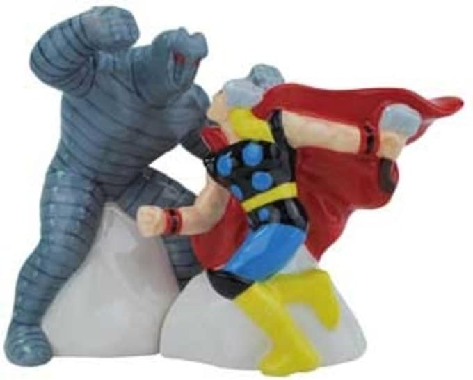 Mighty Thor Vs. Destroyer Salt & Pepper Shakers