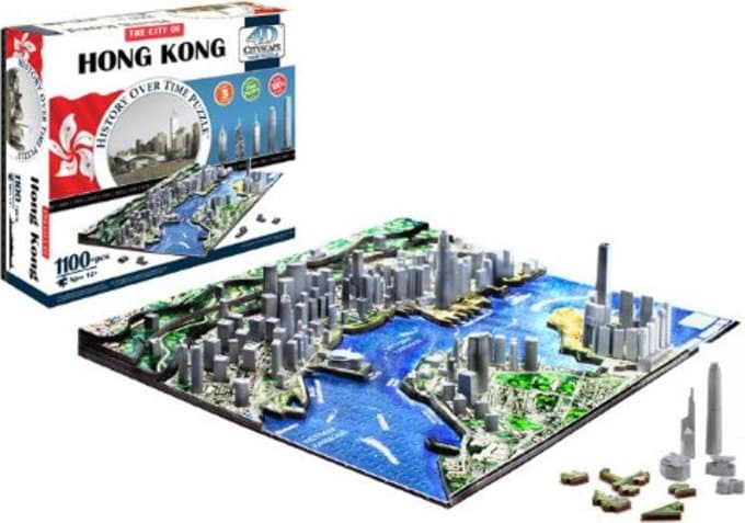 Hong Kong - Cityscape Over Time - 4D Puzzle