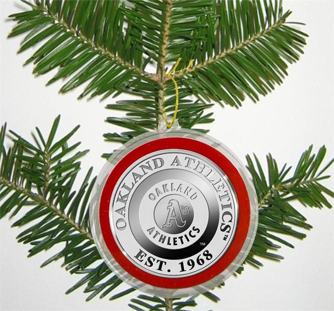 Baseball - Oakland A's - Silver Coin Ornament