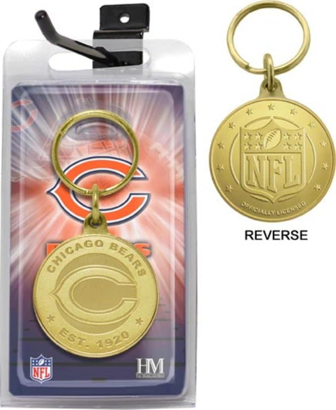 Chicago Bears Bronze Bullion Keychain