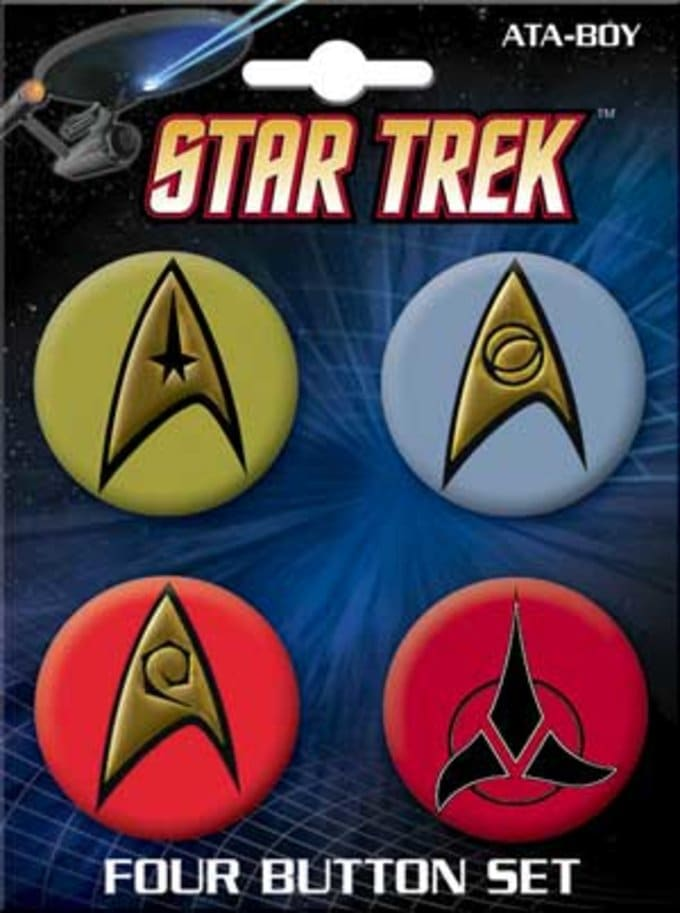 Insignias Carded 4 Button Set