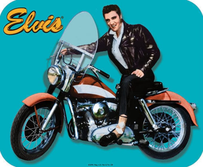 Elvis on Motorcycle - Mousepad