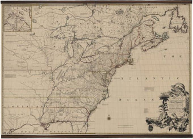 North America 1755 Giclee Scroll