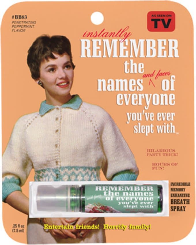 Breath Spray - Remember Names of Everyone You