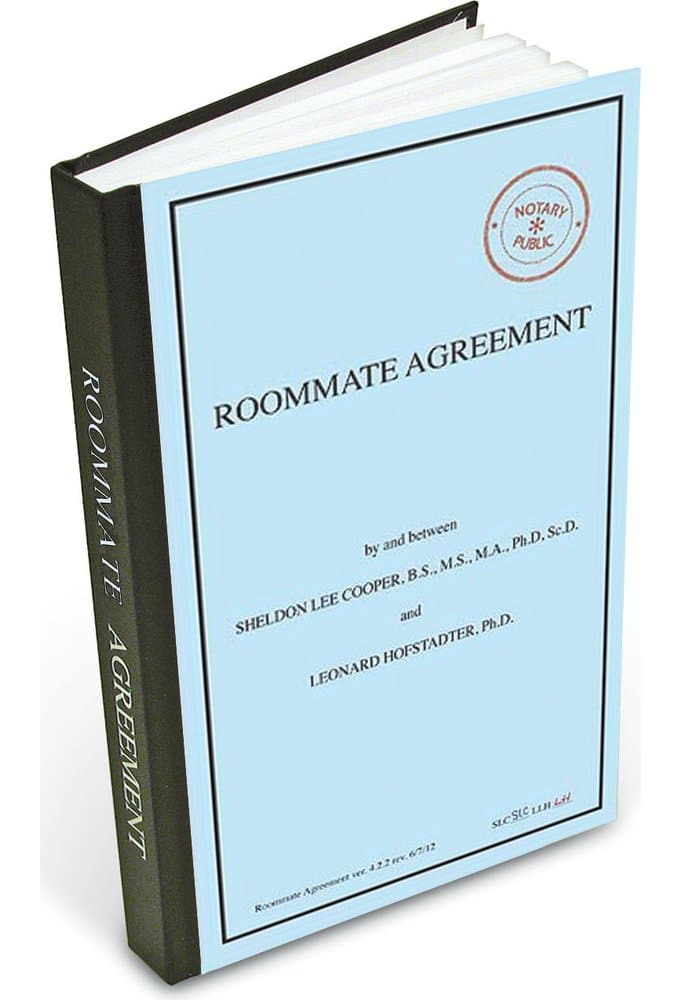 Roommate Agreement Journal