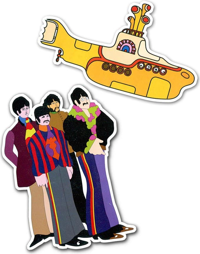 Beatles Yellow Submarine Magnet Set