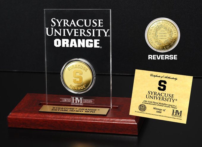 Syracuse University Gold Coin Etched Acrylic