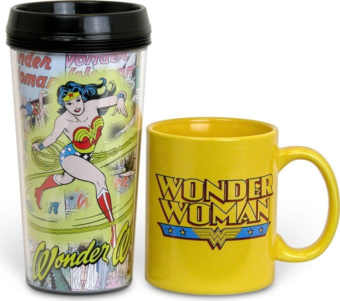 Wonder Woman - 2-Piece Set: 15 oz. Plastic Travel