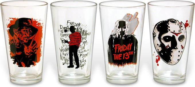 Horror - Pint Glasses Set of 4