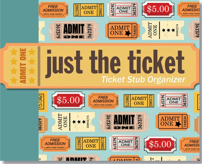 Just The Ticket - Ticket Stub Organizer