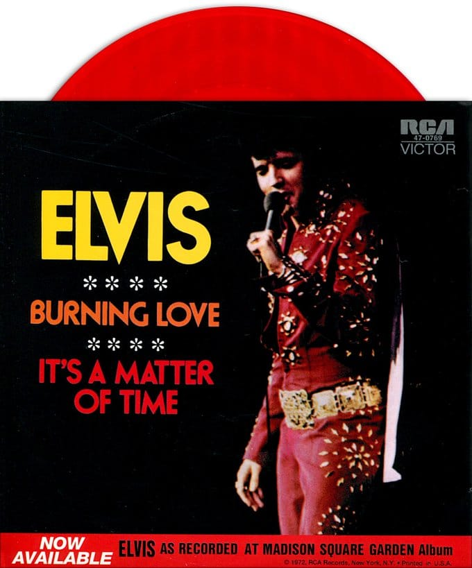 Burning Love / It's A Matter Of Time (Red Vinyl)