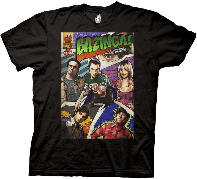 Bazinga! Comic Book Cover - T-Shirt