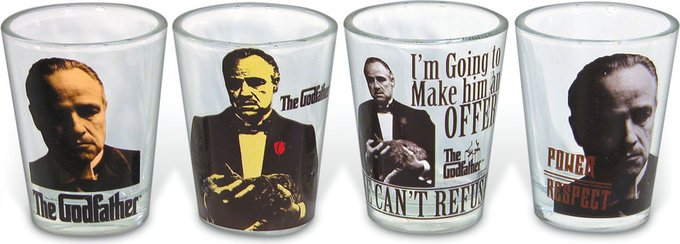 The Godfather Shot Glass Set