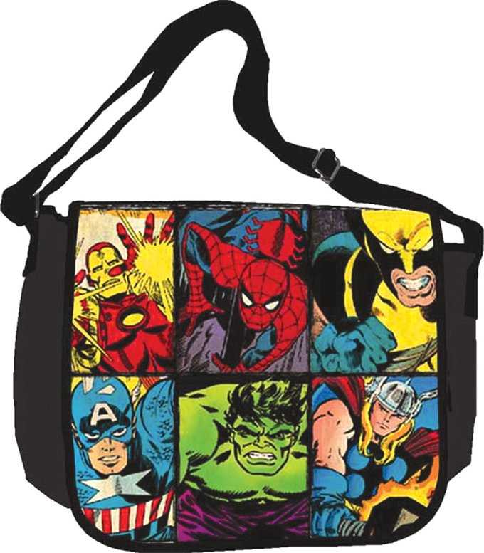 "Heroes Grid: 15""x13"" Messenger Bag"