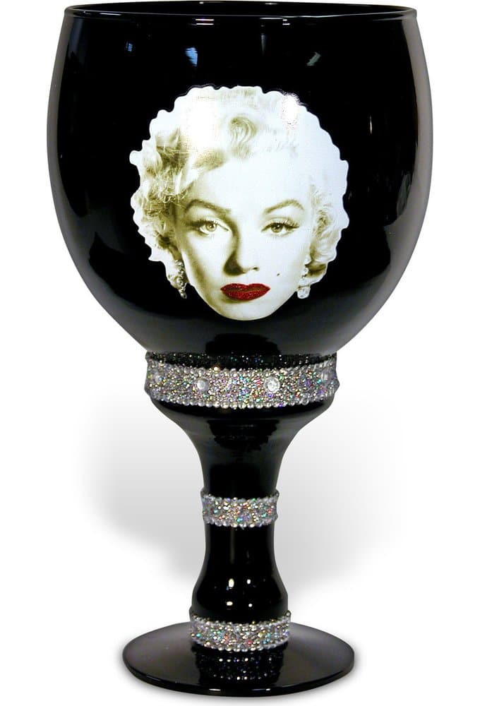 Marilyn Monroe - 40 oz. Glass Goblet with Gold