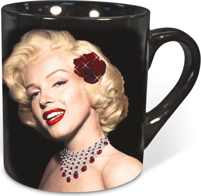 Glitter Rose: 14 oz. Ceramic Mug