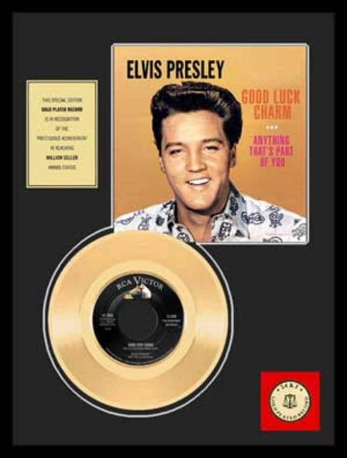 "Good Luck Charm - Framed 12"" x 16"" Gold Record"