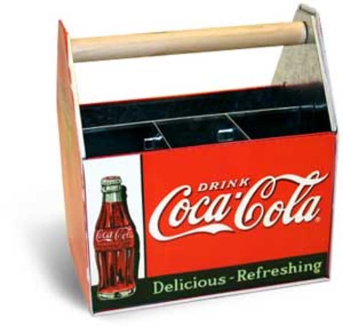 Coca-Cola - Galvanized Utensil Caddy