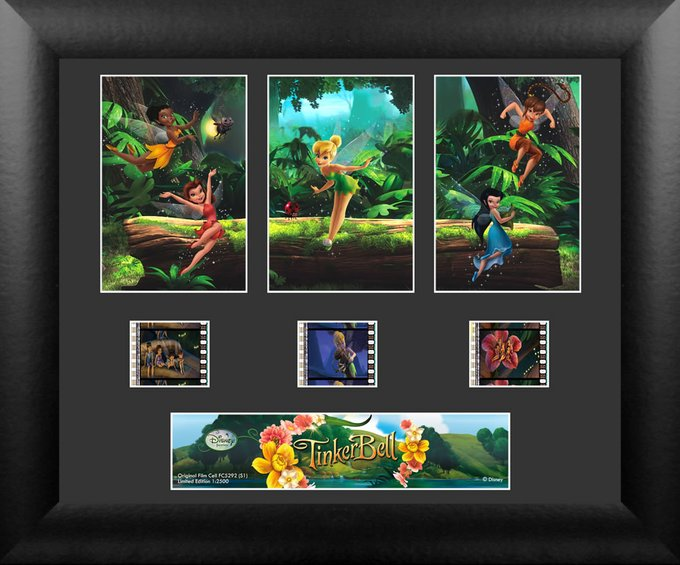 Tinker Bell - Framed 3 Std Film Cells (Series 1)