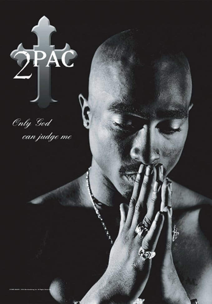 "Tupac - Only God: Flag / Poster / Scarf (30"" x"