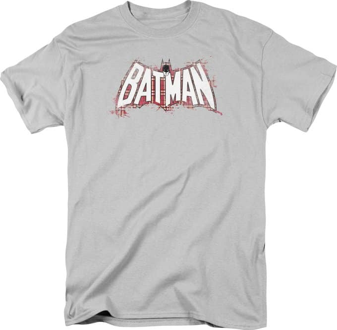 Batman - Plaid Splat Logo - T-Shirt