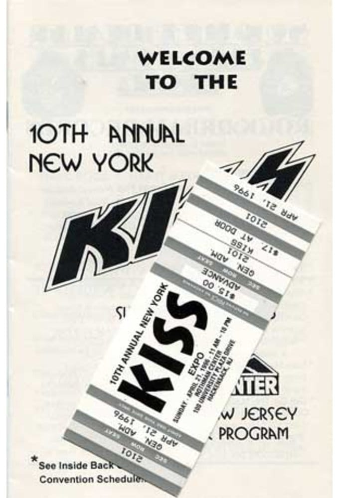 KISS - Convention Guide & Ticket: 10th Annual New