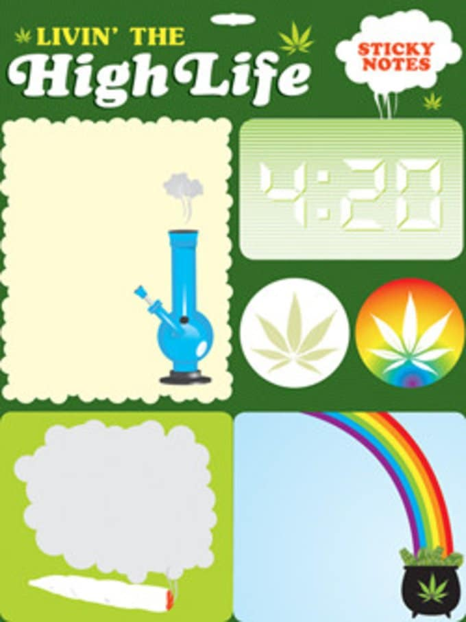 Sticky Notes - Livin' The High Life Sticky Notes