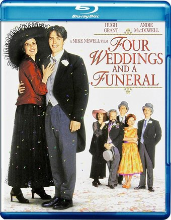 Four Weddings And A Funeral Blu Ray 1994 Starring Hugh Grant Directed By Mike Newell