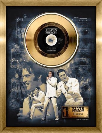 Elvis Presley If I Can Dream Framed Gold 45rpm Record