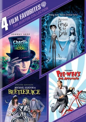 4 Film Favorites Tim Burton Collection Charlie And The